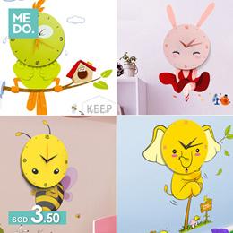 📣DIY Clock📣 ★DIY Clock ★ Silent Wall Clock★ Childs Love★ Cartoon Clock★ Kids DIY ★ House Warming ★