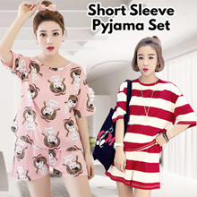 Buy 3 free shipping~Exercise clothes set summer short sleeve Pajamas Set 20 styles leisure sleepwear