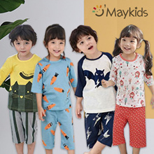 [Maykids] 2018 S/S New Korea Designed Baby/kids pyjamas 100% cotton
