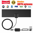Lowest hot sale ❤ 80miles HDTV Antenna with Amplifier Signal Booster Indoor Digital TV Antennas