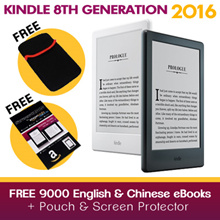 ★Amazon Kindle 8th Generation (released June 2016) with Free 8000+ eBooks and Slip Case!