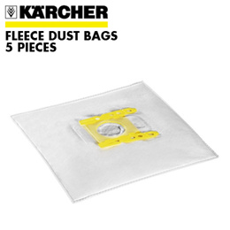 KÄRCHER Fleece Dust Bags (3 Ply) pack of 5 Compatible With VC 5300 (6.414-824.0)