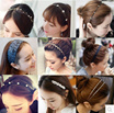 CHEAPEST DEAL!!! MINIMUM PURCHASE OF 5...~~~Hair accessories hair ring fine hair hoop pearl rhinestone tiara headband hair bands issuing press Tousheng trinkets female