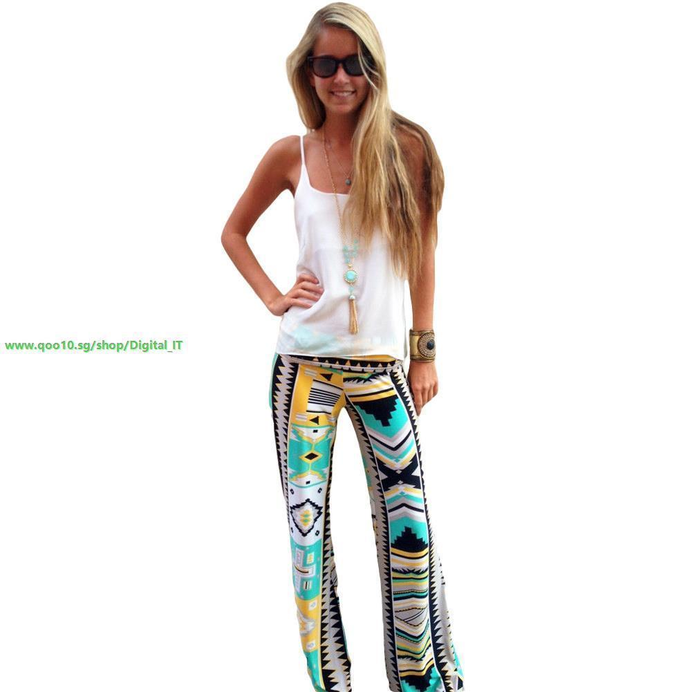 4851143f3f fit to viewer. prev next. Hot Vintage Women Casual Pants Geometric Print  Wide Leg Palazzo Baggy Loose Yoga ...