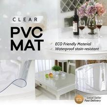 Clear PVC Mat Protector Transparent Tablecloth Anti Scratch Waterproof Glass Clear