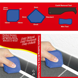 Professional Silicone Sealant Spreader Profile Applicator Tile Tool Set of 4ps ZHH2373 (Color: Multi