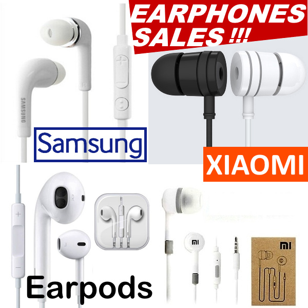 Samsung IPhone Xiaomi Piston Earphone Redmi 1/2/3 Note Earpod Earpiece Galaxy S4 S6 S7 S8 With Mic Deals for only S$9.5 instead of S$0