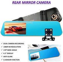 Car Rear Mirror Camera Recorder / Smart Digital Camera / Dash Cam / DVR/  Front + Rear Recording
