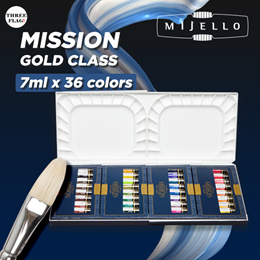 Mijello Mission Gold Class Mission Gold Water Color Palette Set 7ml X 36 Colors(Palette design can