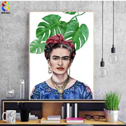 Modern Art Canvas Print Poster Frida Kahlo Portrait Wall Decor Canvas Painting Wall Picture for Livi