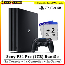 ★SONY PS4 1 TB Pro Console w 1 x Controllers w 2 x PS4 Game★ 4K Quality Resolution w Remarkable Clarity. Local Sony 15 Months Warranty