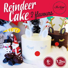 [ FroRoll ] Reindeer Cake! Choice of Chocolate Raspberry or Lemoncurd / 6 Inch 1.2KG / Self Assembly / FREE DELIVERY!