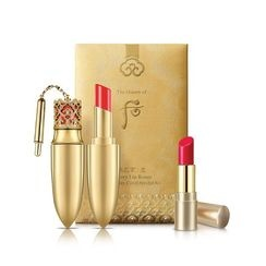 The History of WHOO Gongjinhyang Mi Luxury Lip Rouge #25 Rosy Coral Special Set : Free Lip Blam