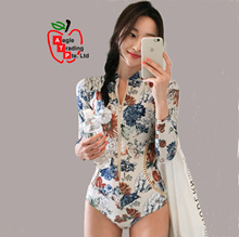 Floral 1pc Rashguard Women Swimwear / Swimsuit / Swimming Wear