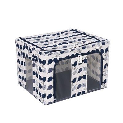 Dust Free Storage Box 66L Navy Leaf