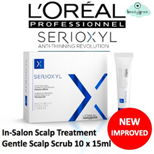 FREE GIFT! [NEW] Loreal Professionnel Serioxyl Scalp Cleansing Treatment (15ml X 10 tubes) U.P $180