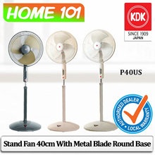 KDK Stand Fan 40cm Metal Blade Round Base P40US