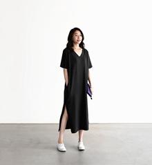 Plus-size Super Strechable High Waist Sleeveless Maxi Dress