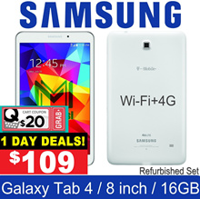 (MAKE $109) Samsung Galaxy Tab 4 / 8.0 inch / Wi-Fi+4G / SM-T337 / 1.5GB RAM / 16GB ROM / Refurbish