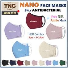 TNG Reusable Washable Mask - 3 ply non Surgical N95 KF94 masks-  Haze face mask