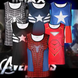 High Quality Marvel Vest!!! Made of Coolmax Lycra Superman Spiderman Batman Ironman Captain America