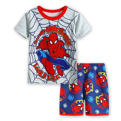 7f2e47236 Baby Boys Clothing Sets 2017 New Spiderman Short Sleeve Shirt+Shorts 2pcs  Suit For Kids