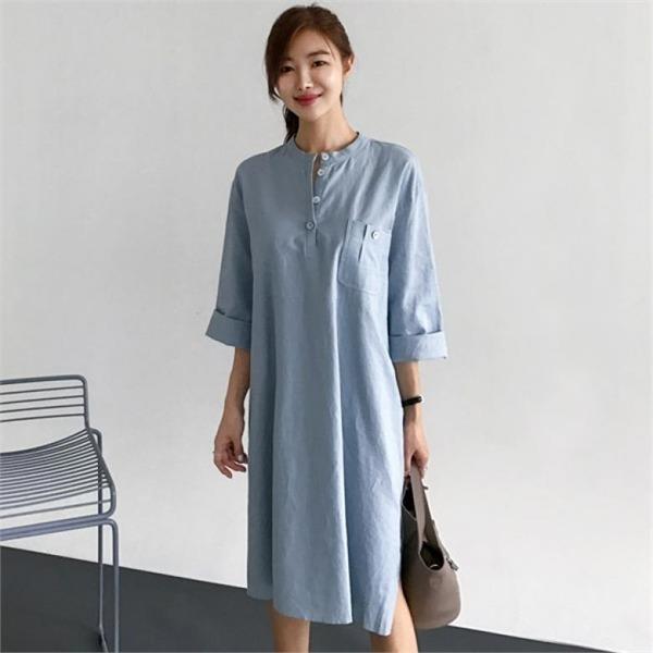 るみさんステイポケットボタンワンピースnew ロング/マキシワンピース/ワンピース/韓国ファッション