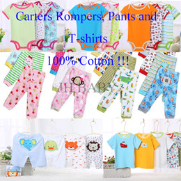 ★Re-stocked★ CARTER BABY SLEEPSUIT/ROMPERS/PP PANTS/T-SHIRTS/100% COTTON/ASSORTED DESIGN/5PCs SET