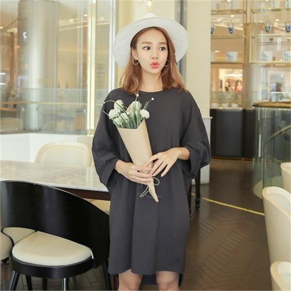 クルリクエンミアリカンワンピースnew 無地ワンピース/ワンピース/韓国ファッション