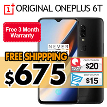 【Ready Stock】[New] OnePlus 6T | 3 Colors | 8G+128GB