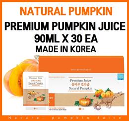 Premium Natural Pumpkin Juice 90ml x 30 packs/Diet Juice/Korean Food/Food/Healthy/Drink/Red Cabbage