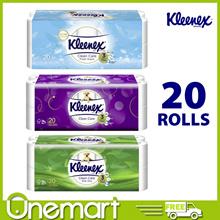 [KLEENEX]★ JUMBO ROLL ★ Ultra Soft Bathroom Tissues 20 Rolls (Regular/Aloe Vera/Clean Scent)