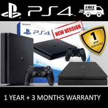 PS4 SLIM CUH-2000 | PS4 CUH-1206 | SONY PlayStation 4 500GB  | 1TB Console White | Black | 1 Year + 90 Days Additional Singapore Local Warranty | LATEST MODEL WEIGHS LIGHTER AND CONSUMES LESS POWER