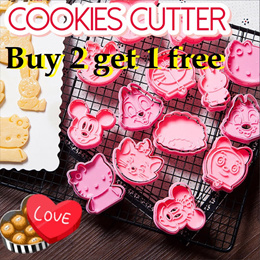 Lover Stainless Steel Cute Cookie Cutter LOVE Letter Forms Biscuit Mold Plastic
