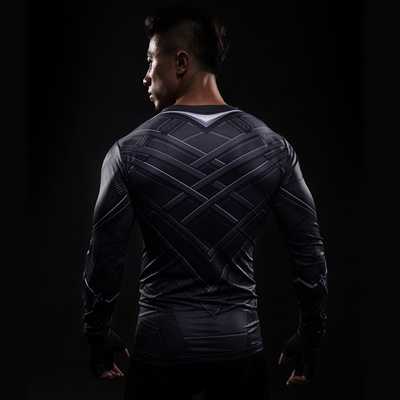1929cd61f789 outlet Black Panther 3D Printed T-shirts Men Compression Shirt Captain  America long Sleeve Cosplay