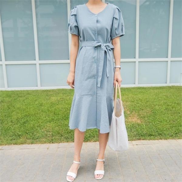 レルラパフワンピースnew Hライン/スリムフィットワンピース/ワンピース/韓国ファッション