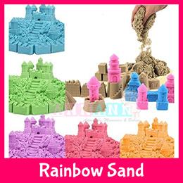 ★CHEAPEST★107pcs Starter Kit★Colourful Rainbow Space Kinetic Sand★Mouldable Pliable Plasticine-Like★