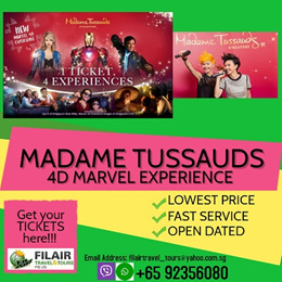 [Fil Air] Madame Tussauds + Images of Singapore + Boat Ride + Marvel 4D Experience (New) - ETICKET