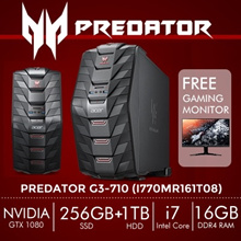 [Limited Quantity] Predator G3-710 (i770MR161T08) 16GB DDR4 RAM Gaming Desktop (Black)