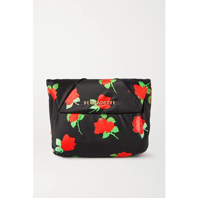 Bernadette Clutch handbag with satin and leather