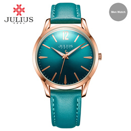 JULIUS New Arrival Design Simple Leather Women Watch Business Ladies Wristwatch Fashion Brand Clock