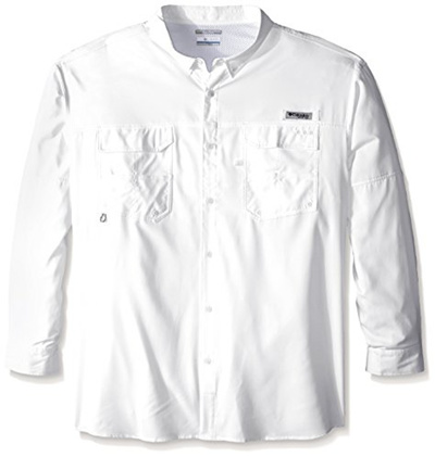 cfb2a84bb3c Columbia Sportswear Mens Blood and Guts III Long Sleeve Woven Shirt (Big),  White