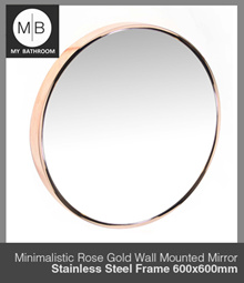 600MM Modern rose gold bathroom wall mounted around mirror stainless steel frame