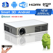 [MASTERBED ROOM CINEMA][1 YR ONSITE WTY] 1280X800 3000 LUMENS MINI DLP SHORT THROW ANDROID PROJECTOR