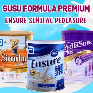Ensure Vanila 1000 gr | Pediasure | Bebelac | Similac | Susu Formula Premium Deals for only Rp240.000 instead of Rp240.000