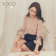 YOCO - Trumpet Sleeves Blouse-180195-Winter