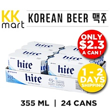 KOREAN BEER 24 Cans [Mango Lingo / Hite extra cold]