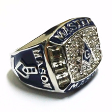 Master Mason Masonic Lodge Ring Templar Jewelry Freemasonry Hip Hop Band Ring Size 8-15