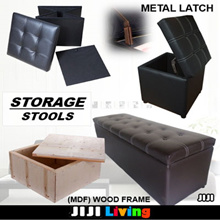 ★Storage Stools ★Leather ★Foldable ★Organizer ★Shelf ★Table ★Premium ★120cm ★Leg Rest