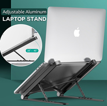 Adjustable Aluminum Laptop Stand /Angle Adjustable / Notebook Stand / Foldable Laptop Table